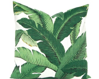 Outdoor Pillow Cover - Tommy Bahama Swaying Palms - 16 x 16, 18 x 18, 20 x 20 Banana Leaf Pillow Cover - Green Pillow- Outdoor Cushion Cover