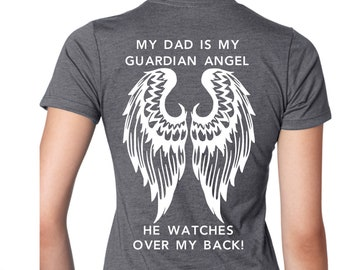 6ee94e21369bc Custom Guardian Angel T-Shirt or Tank Top - mens or women s sizes
