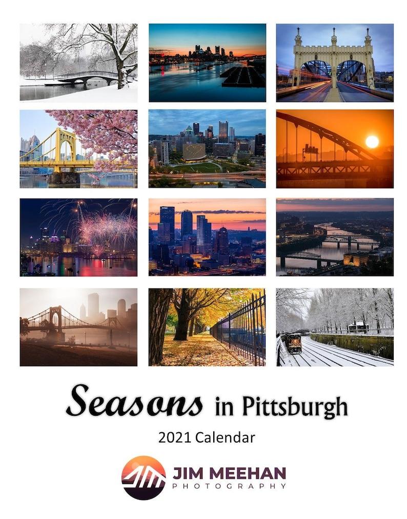 Christmas In Pittsburgh 2021 2021 Seasons In Pittsburgh Wall Calendar Calendar 2021 Etsy