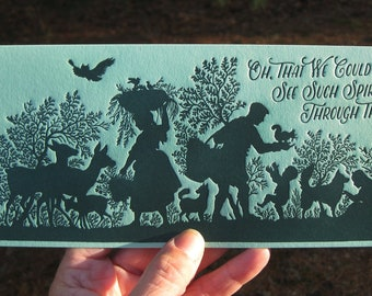 Classic Timeless Holiday or New Year Seasonal Letterpress Card