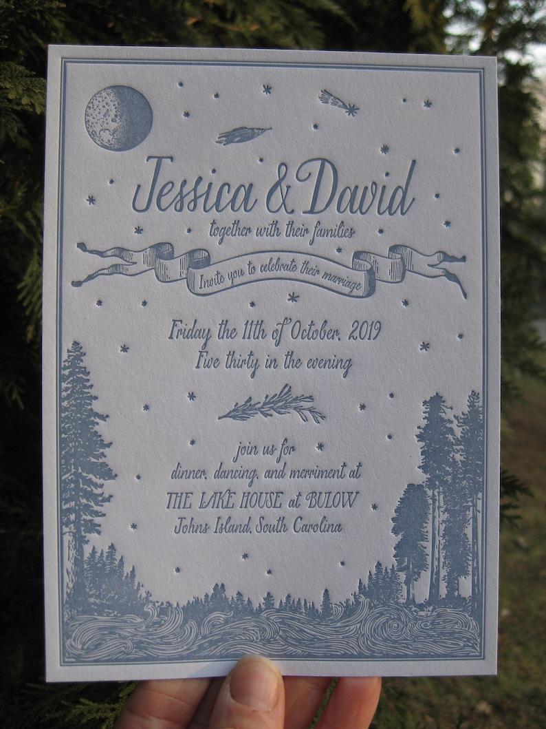 Simply Rustic Perfect Custom Letterpress Wedding Invitations