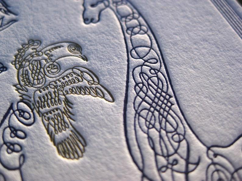 Elegant Chic Scrollwork Letterpress Birth Announcement