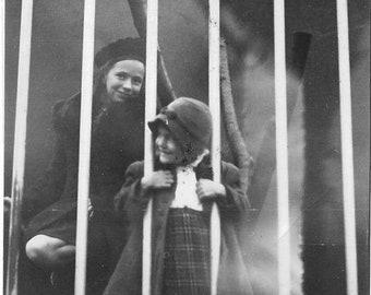 Vintage Photo - Sisters at Worlds Fair Exhibit - Eastman Kodak - 1930s-40s Original - Cute Girls - New York- Unique Photo - Snapshot