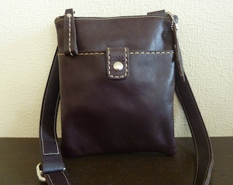 a4df24c11981 Vintage Genuine Roots Canada Womens Leather Handbag - Brown Pebbled Leather Crossbody  Bag
