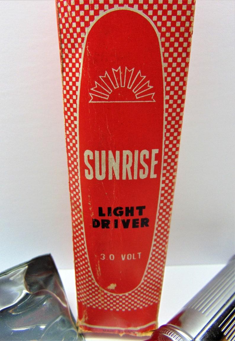 Flashlight  Screwdriver Vintage Sunrise Light Driver
