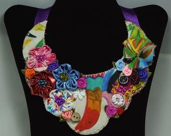 Bohemian chic bib statement necklace