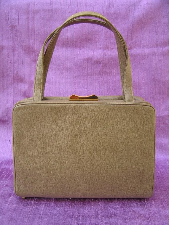 06. Coblentz pistachio leather mid-century modern