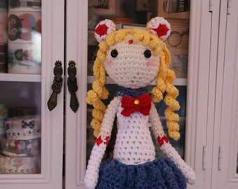 Sailormoon crochet doll, amigurumi doll, Sailormoon doll