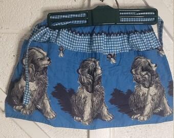 Chef and Mischievous Puppy Apron Men/'s Apron Vintage Kitchen Apron Men/'s Gift Grilling Retro Kitchen Vintage Apron