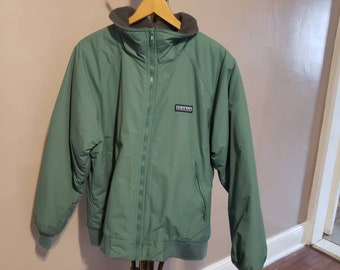 40555d8a0d vintage lands end green and grey jacket size medium