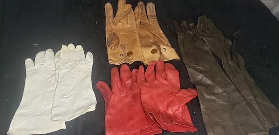 dress gloves, leather gloves, retro gloves, short
