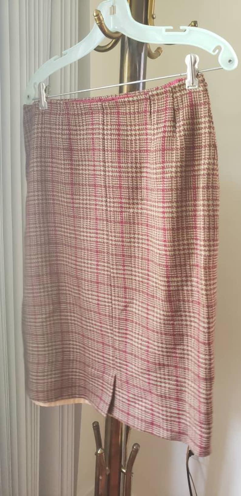 red plaid skirt skirt retro skirt vintage skirt size 14 skirt red skirt plaid skirt