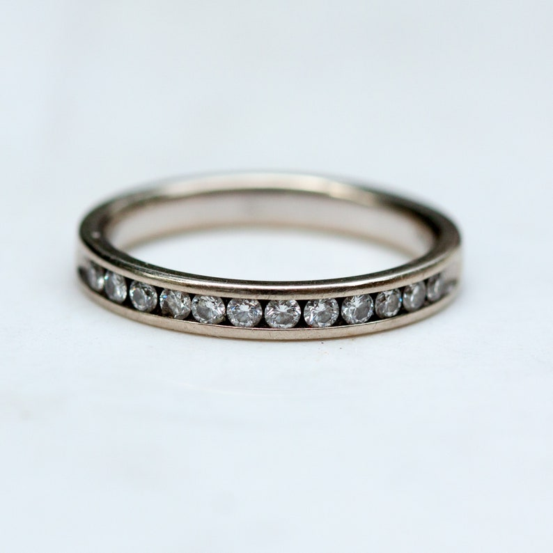 14k Solid Yellow Gold .50 Ct Round Diamond 2.0 mm Wedding Band Stackable Ring Fine Rings Jewelry & Watches