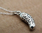 PICKLE - Sterling Silver Charm with a Sterling Silver Chain 16in or 18in
