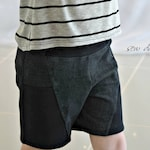 Scuttle Shorts PDF Sewing Pattern ( low rise shorty shorts and longer knit shorts for boys and girls confident beginner )