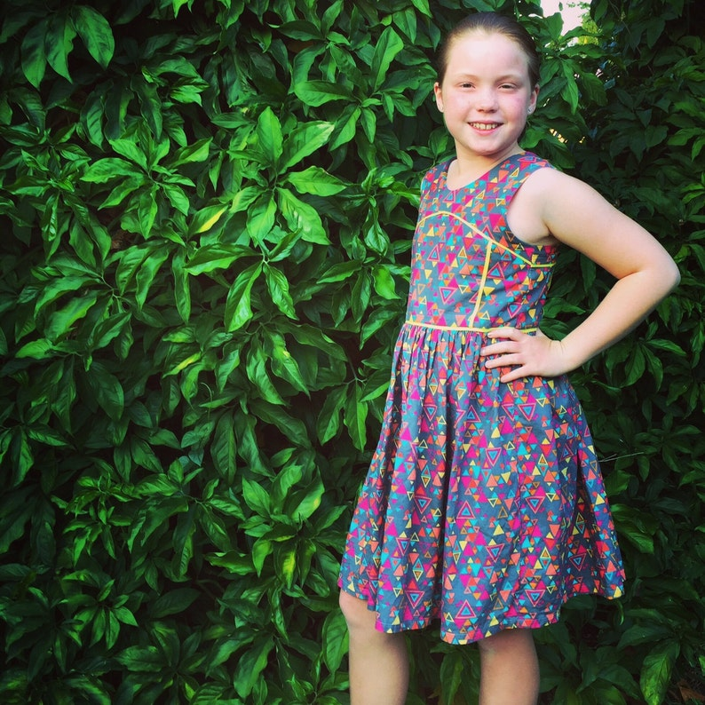 Azure Party Dress PDF Sewing Pattern by Ainslee Fox for little image 0