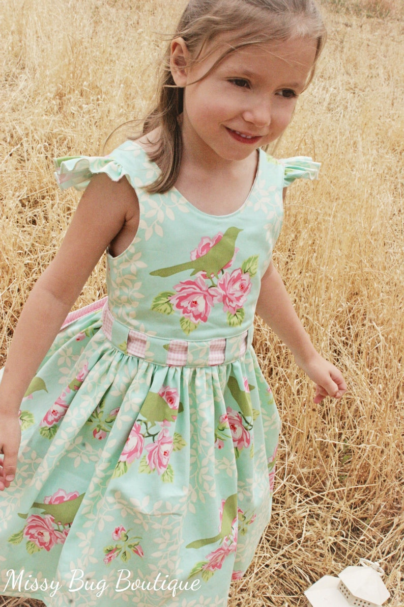 Bow Peep Party Dress PDF Sewing Pattern by Ainslee Fox for image 0