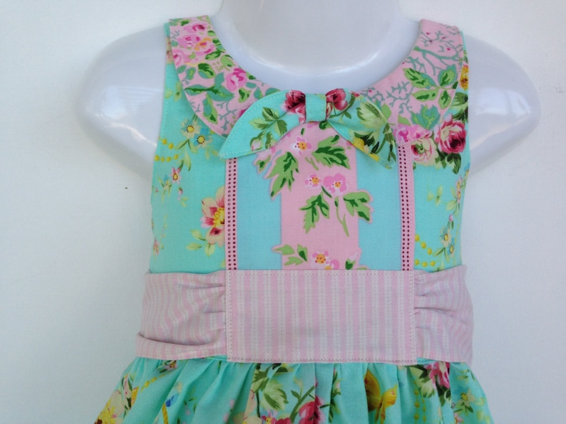 Ainslee Fox Foxtrot Party Dress size 1 to 12 years girl sewing image 0