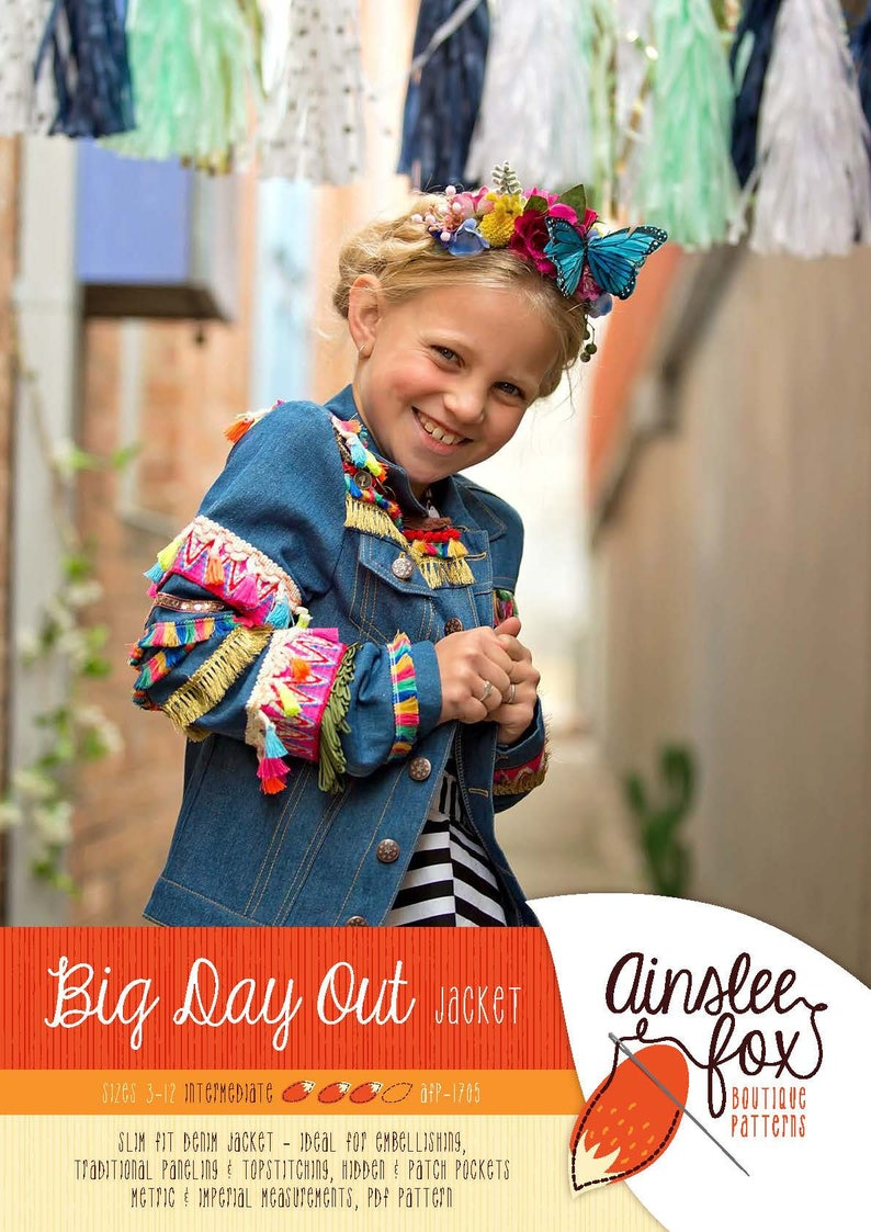 Big Day Out Jacket PDF Sewing Pattern  slim fit denim jeans image 0