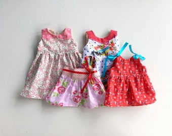 Dolly PDF Sewing Pattern Bundle - 3 dresses, 1 skirt, 1 top - made to match Ainslee Fox girls dresses - 5 dolly sizes