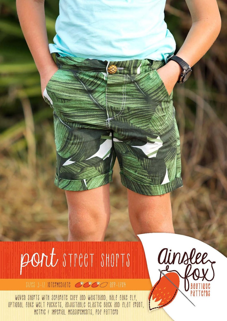 Port Shorts PDF Sewing Pattern  slim fit woven shorts for image 0