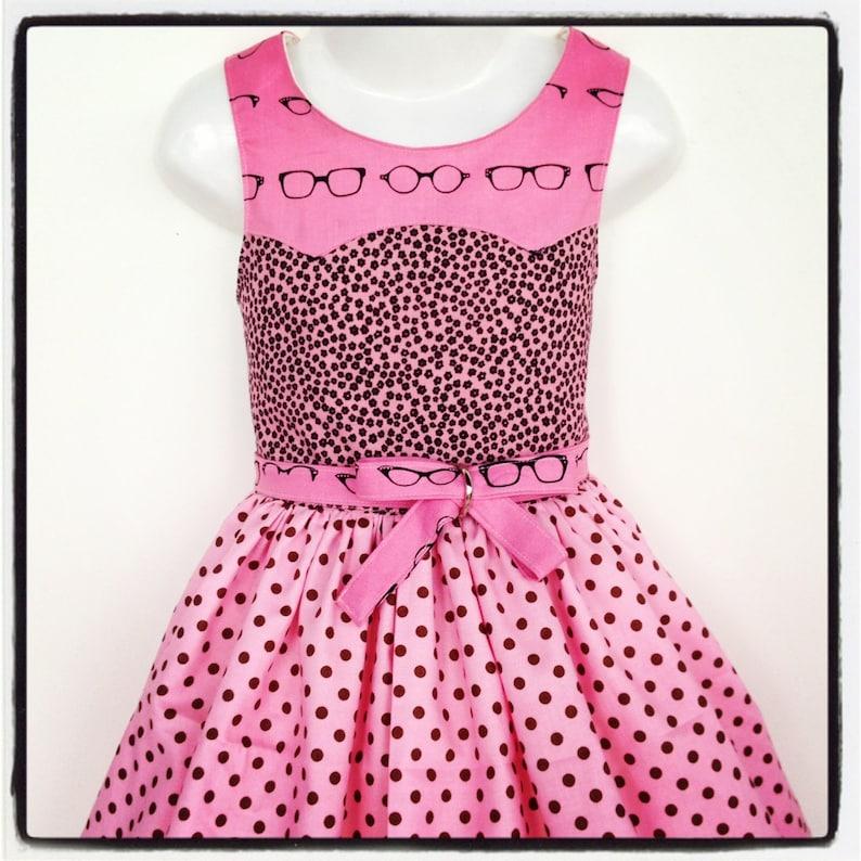 Girls Dress PDF Sewing Pattern Disco Party Dress Ainslee Fox image 0