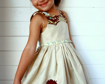 size 1 to 12 years Girls Dress PDF Sewing Pattern Disco Party Dress Ainslee Fox