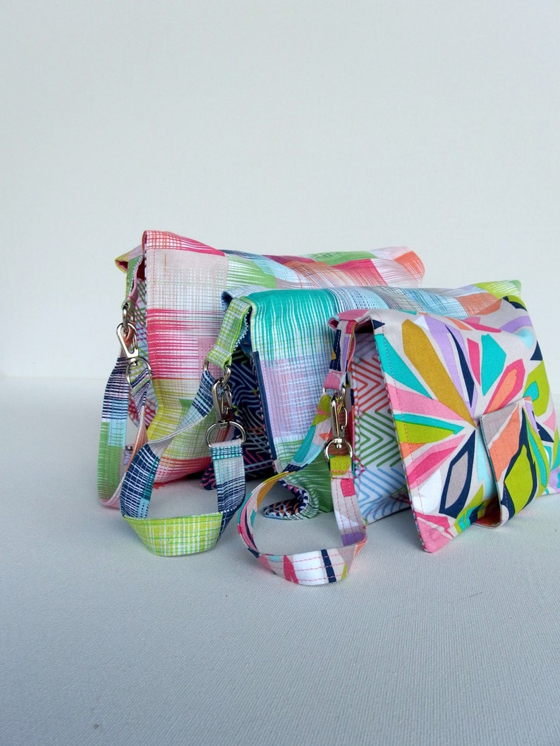Diaper Nappy Pouch Clutch Wallet 3 sizes PDF Tutorial image 0
