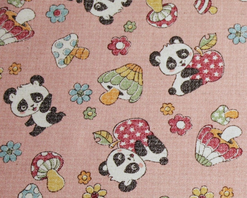 Baby Panda Boy Kids Bear Fabric Printed by Spoonflower BTY