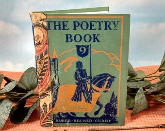 Knight in Armor Poetry Writing Journal from Vintage 1927 The Poetry Book Classic Classroom Hardcover Reader