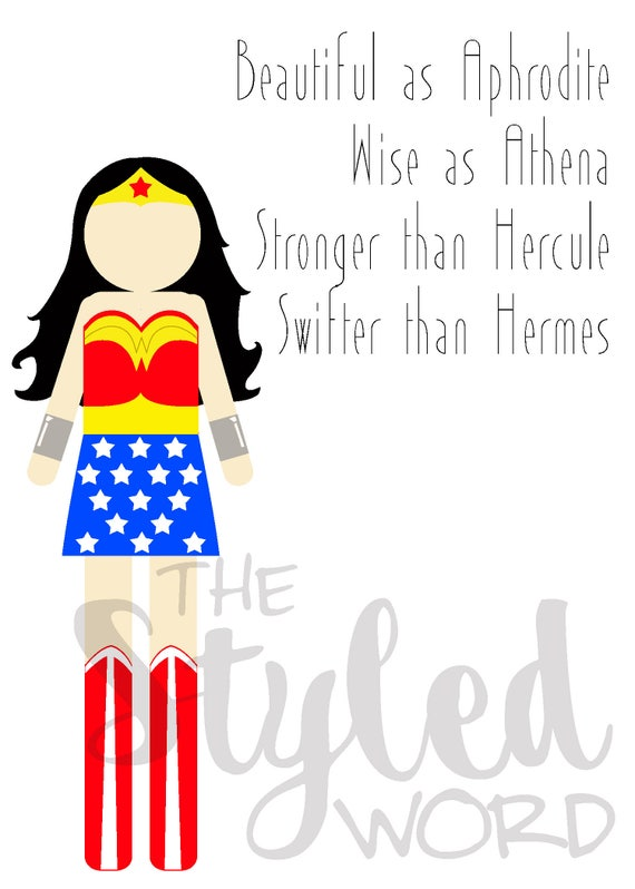 image about Wonder Woman Printable called Ponder Girl Printable Artwork / Question Female Goddess Quotation / Warrior  Princess Artwork / Decor for Women of all ages / Female Present *Immediate Down load*