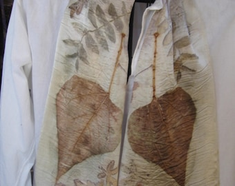 eco dyed charmeuse SILK scarf 11 x 60