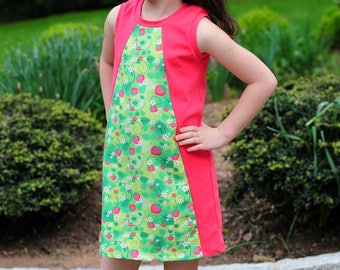 Mandrake Dress PDF pattern 6-16 tween knit dress pattern