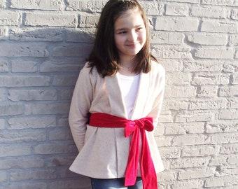 Fern Cardigan 6-16 PDF sewing pattern, knit cardigan sewing pattern, jumper pattern, juniors knit sewing pattern