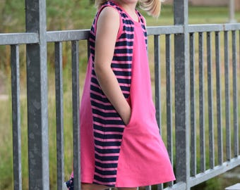 Mandrake Dress PDF pattern 12m-8 girls knit dress pattern