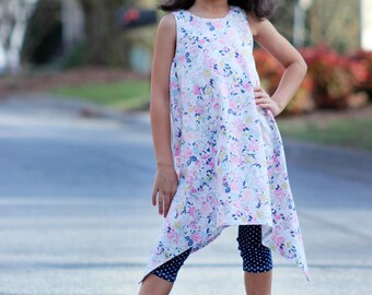 Posey Tunic & Dress PDF pattern 12m - 8, Girls Tunic and Dress pattern