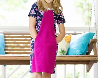 Mandrake Dress PDF pattern 12m-16 bundle girls knit dress pattern