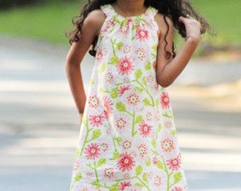 Darling Daisy Dress PDF pattern sizes 12m to 8, girls woven dress, halter dress pattern, maxi dress, tiered sewing pattern, colorblocking
