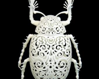 "Beetle Sculpture ""Coleoptera Filigre"" (small)"