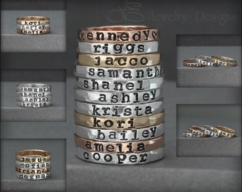 HAND STAMPED RINGS