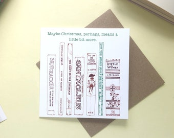 """The Grinch 'Maybe Christmas, perhaps, means a little bit more"""" Christmas card"""