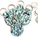 Cactus Quarter Holder-Quarter Keeper-Quarter Keychain