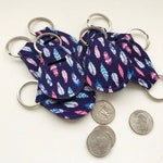 Feather Quarter Holder-Quarter Keeper-Quarter Keychain