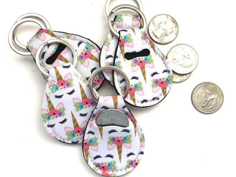 Unicorn Quarter Holder-Quarter Keeper-Quarter Keychain image 0