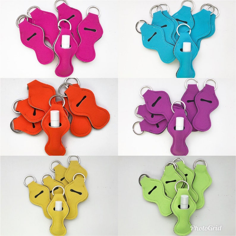 Solid Chapstick Holders Chapstick Keychain Chapstick Holder image 0