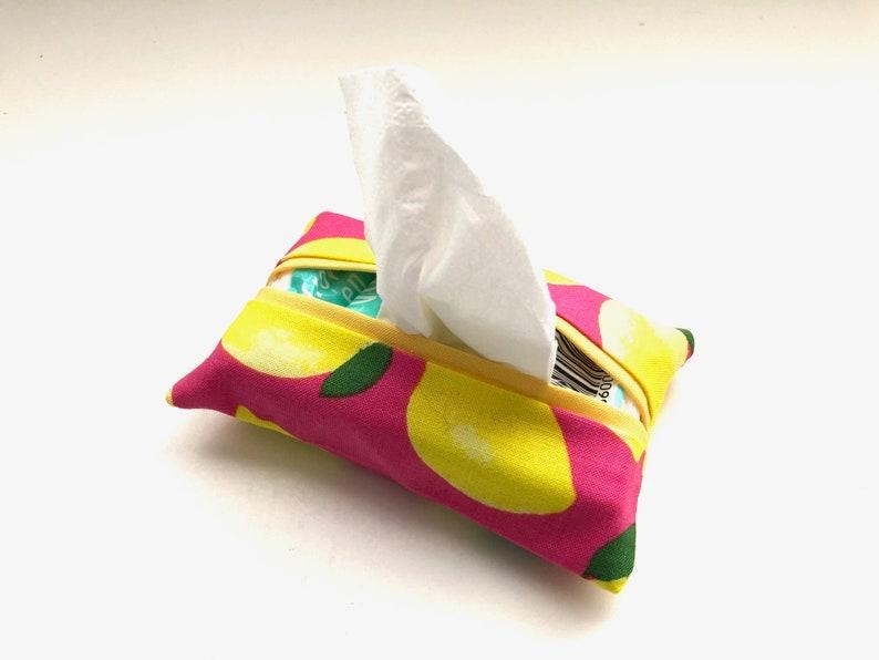 Pocket Tissue Cover Travel Tissue Cover Lemon Tissue Cover image 0