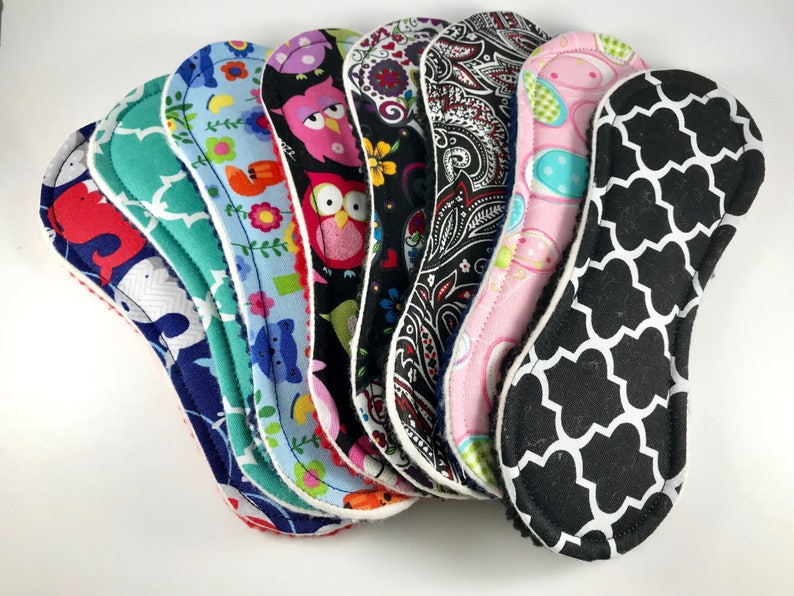 Wingless Cloth Panty Liners Mystery Pack 7.5 Set of 5 image 0