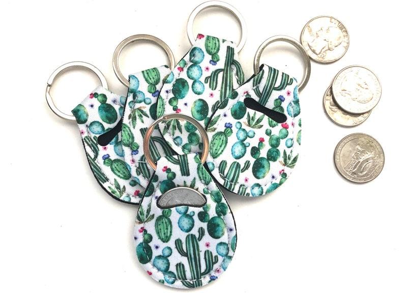 Cactus Quarter Holder-Quarter Keeper-Quarter Keychain image 0