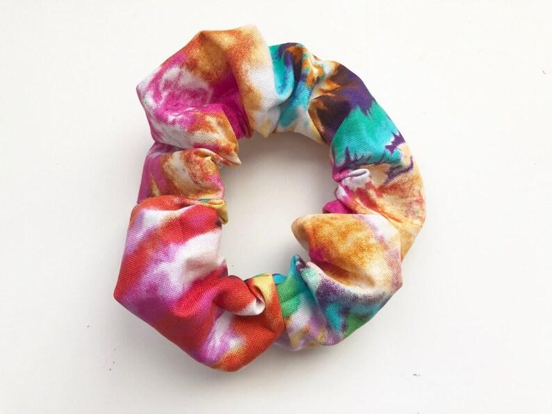 Tie Dye Scrunchie Tie Dye Hair Tie Hair Elastic VSCO Girl image 0