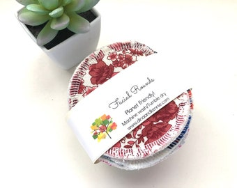 Facial Rounds, Makeup Remover Pads, Face Scrubbies, Set of 5, Zero Waste